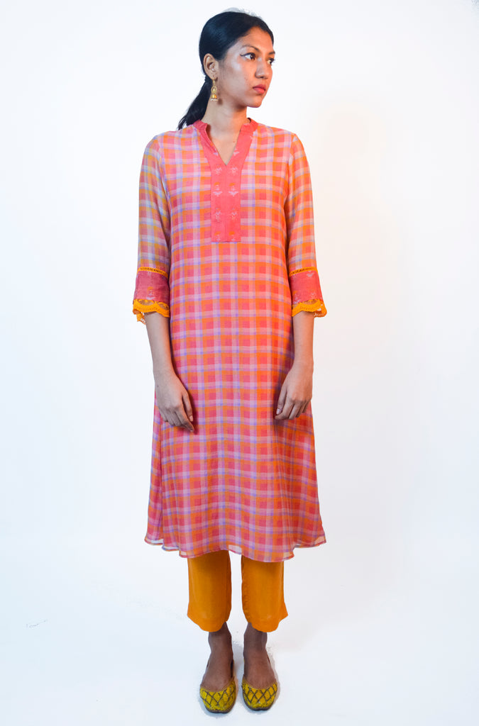 Aamba Checked Kurta