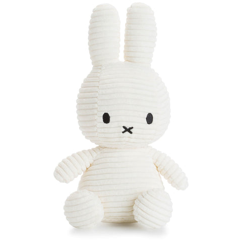 Miffy Small Bunny Sitting Corduroy Plush Off White