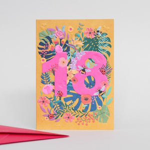 Neon 18 Botanical Card