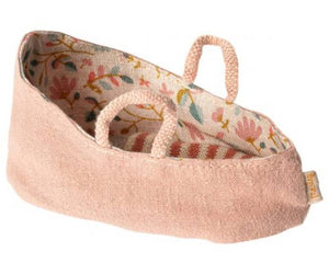 Mini Fabric Carrycot With Handles - Misty Rose