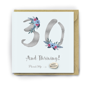 Plantable Bean 30 and Thriving Card