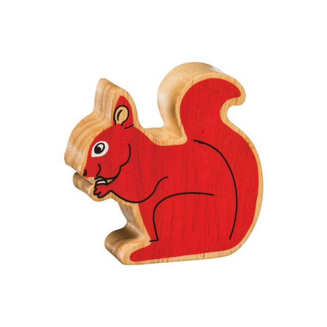Lanka Kade Wooden Toy Fair trade - Natural Red Squirrel