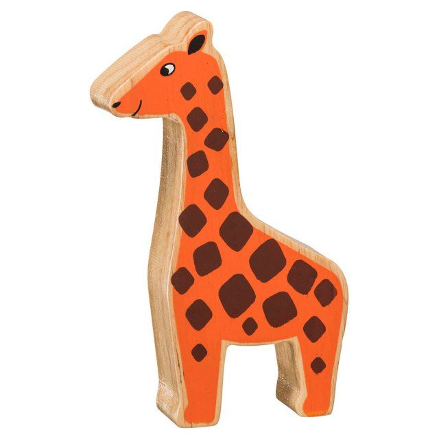 Lanka Kade Wooden Toy Fair Trade - Natural Orange Giraffe