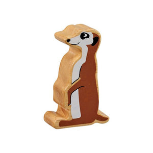 Lanka Kade Wooden Toy Fair Trade - Natural Brown MeerKat