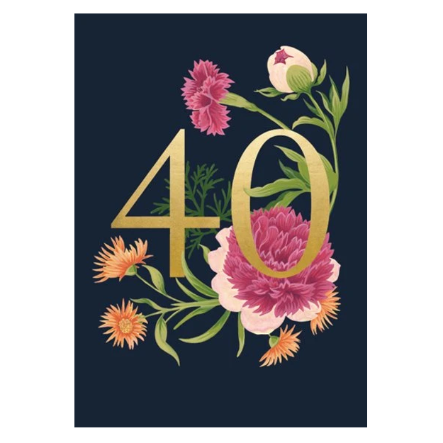 40 Botanical Birthday Card
