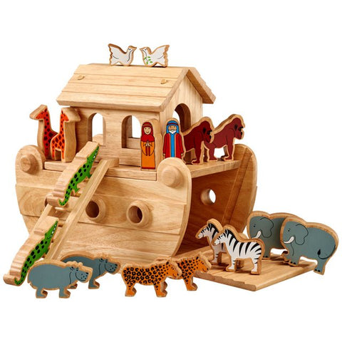 Lanka Kade Junior Natural Noah's Ark with Colourful Figures