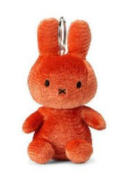 Orange Velvet Miffy Keyring