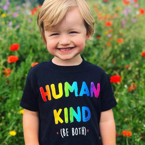 Human Kind Black T-Shirt Ages 1-6 Years