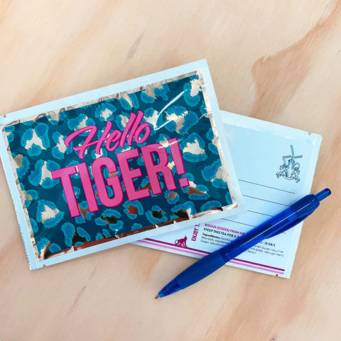 Hello Tiger! Tea Postcard