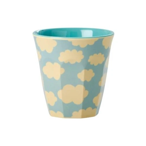Melamine Kids Cup With Cloud Print In Blue Small