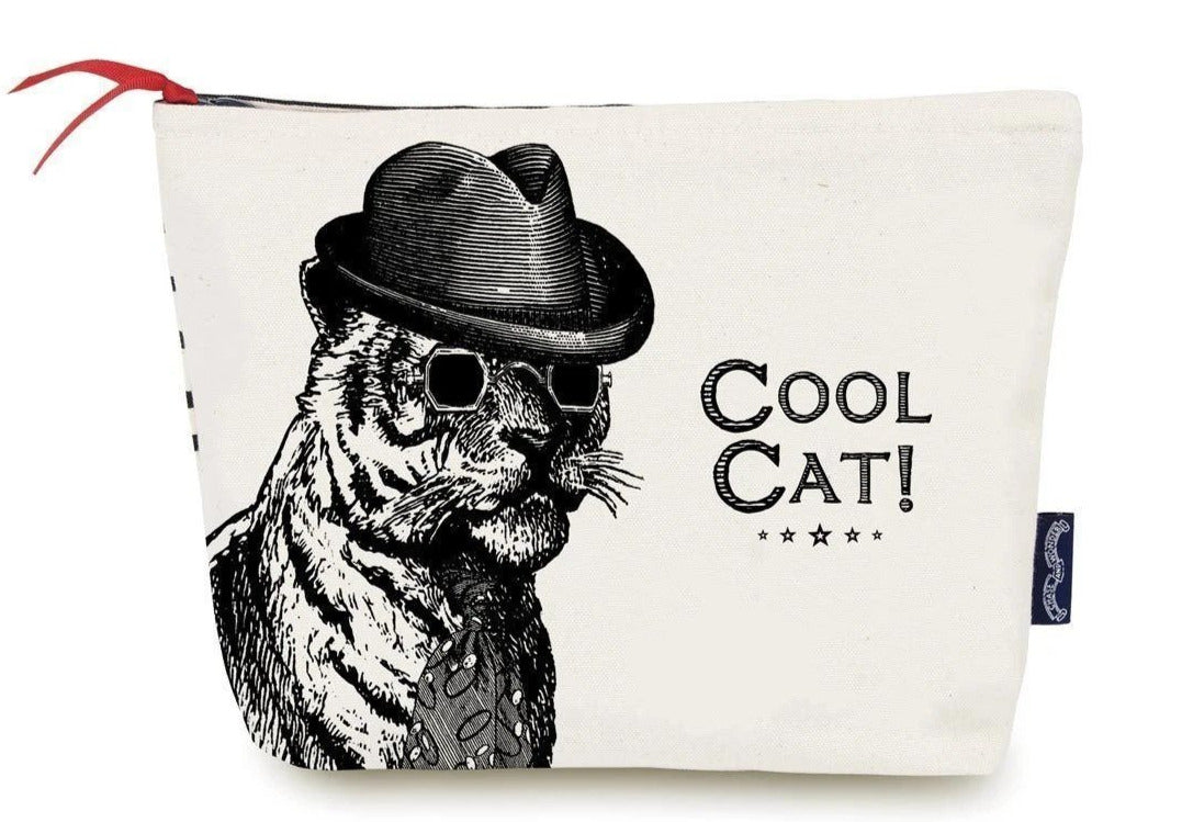 Cool Cat Make Up Bag/Pencil Case/Wash Bag