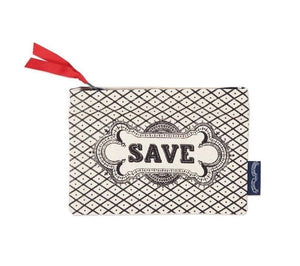 Save Screen Printed Canvas Purse