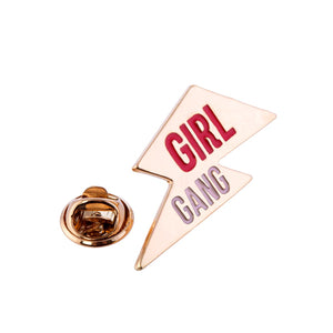 Girl Gang Lightning Bolt Pin