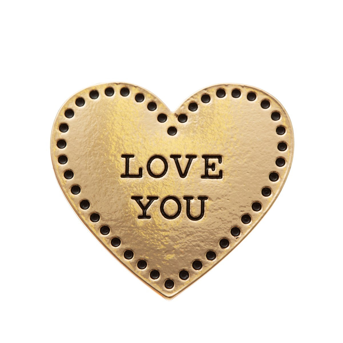 Gold Love Heart Pin