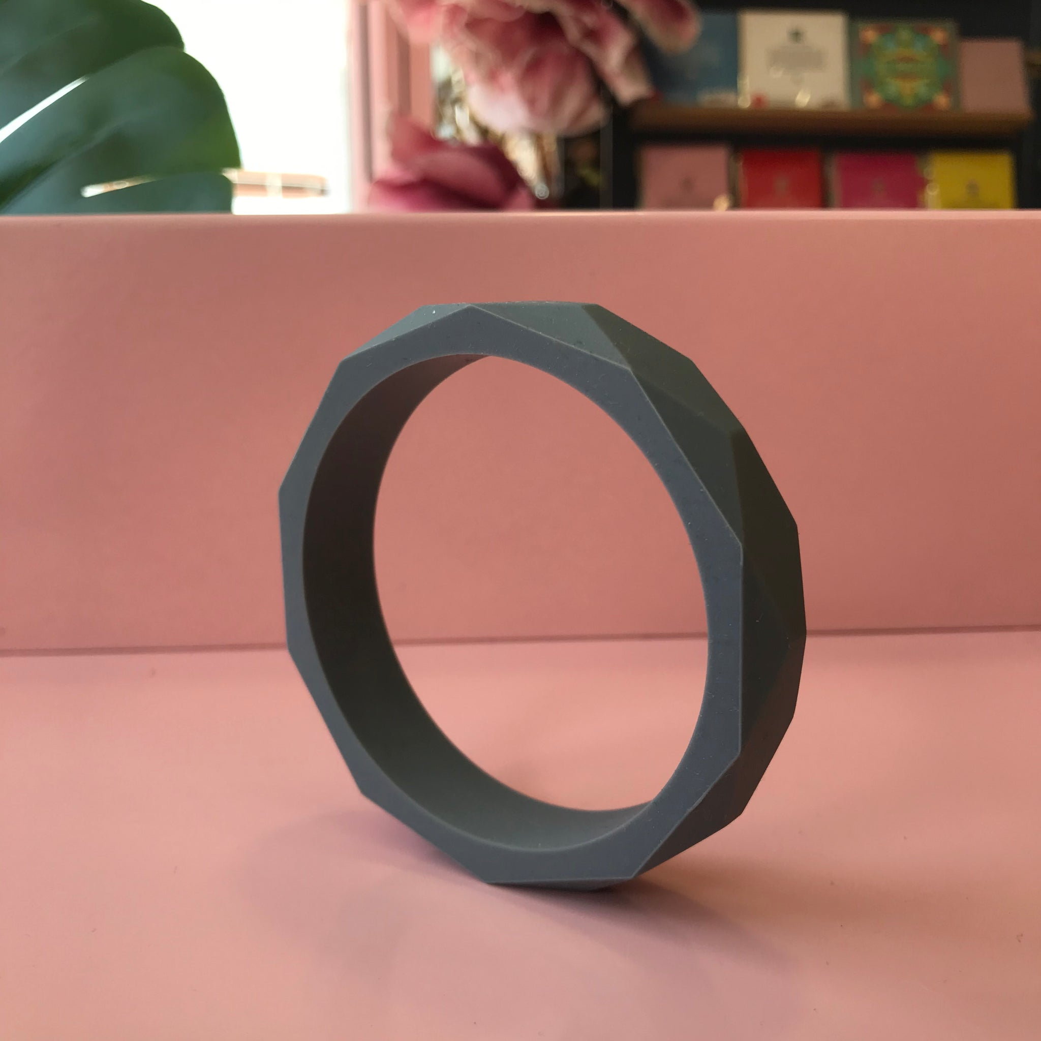 Silicone Baby Teething Bangle - Grey