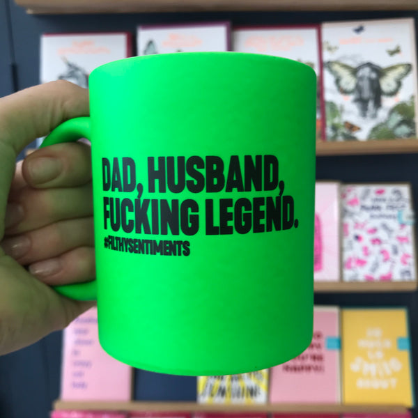 Dad, Husband Legend Mug by Filthy Sentiments