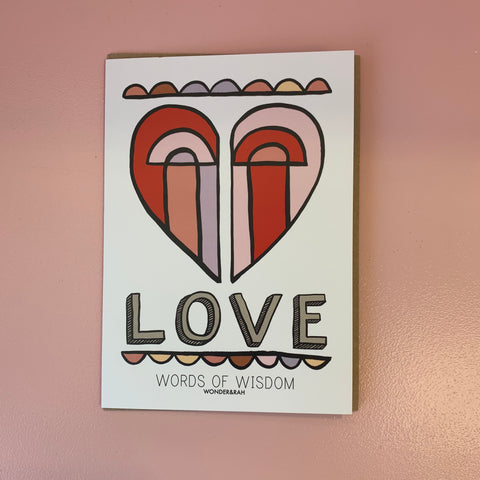 Love - Words of Wisdom Card