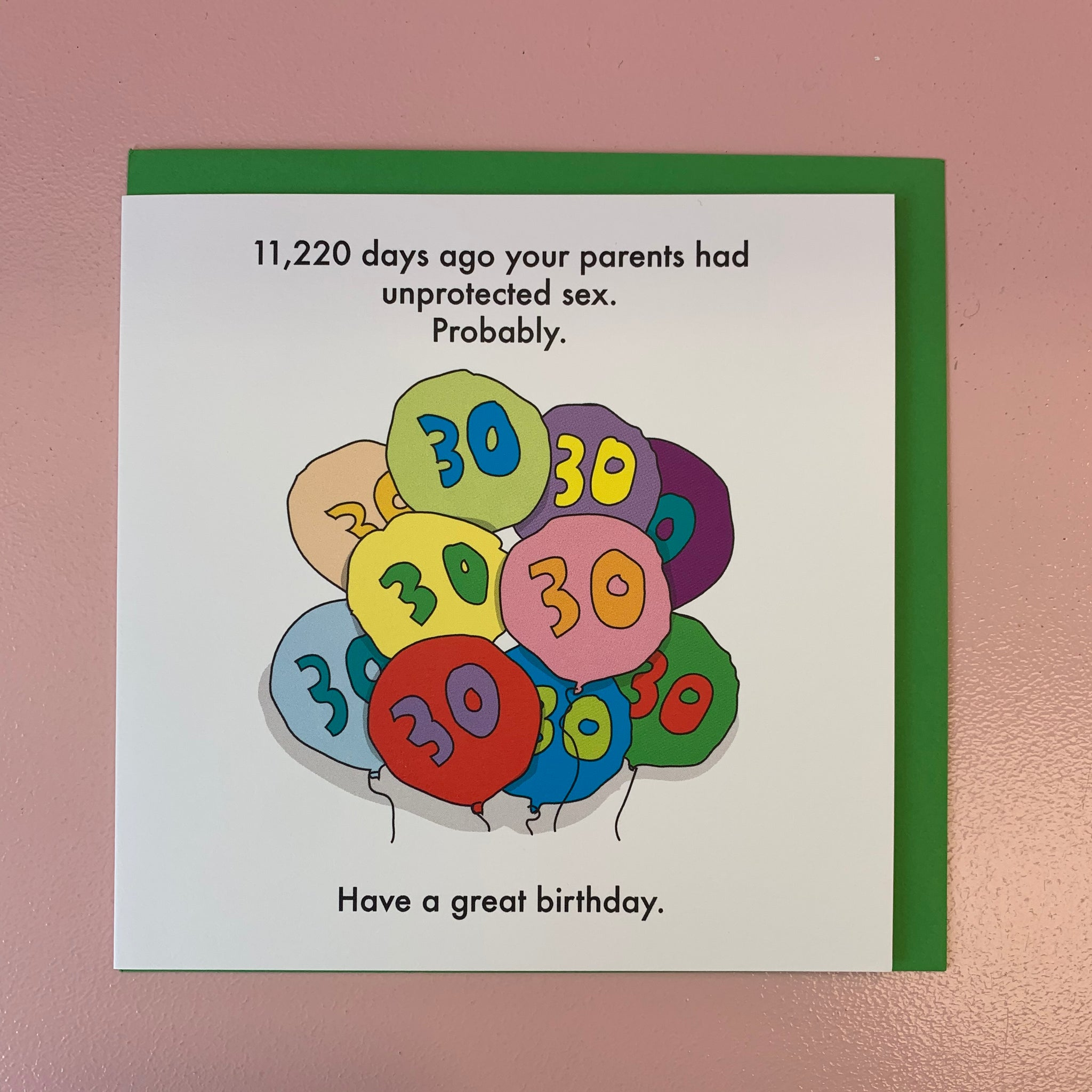 11,220 Days Ago Your Parents...30th Card
