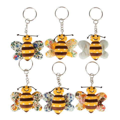 Buzy Bee Fabric Keyring