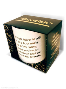 To Early To Drink Gold Foiled Boxed Mug