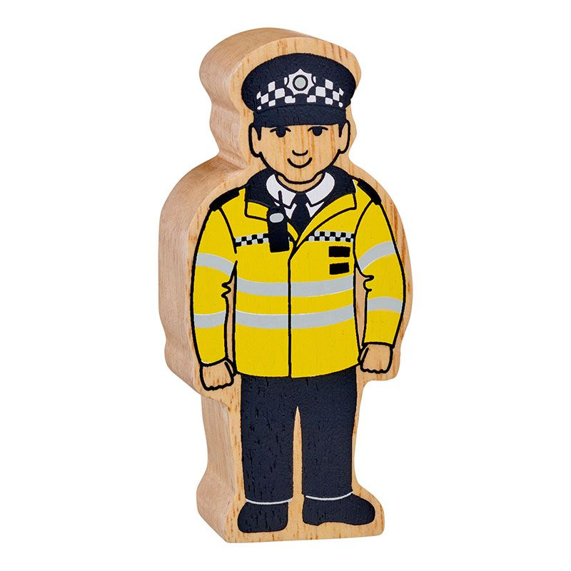 Lanka Kade Wooden Toy -  Natural Policeman