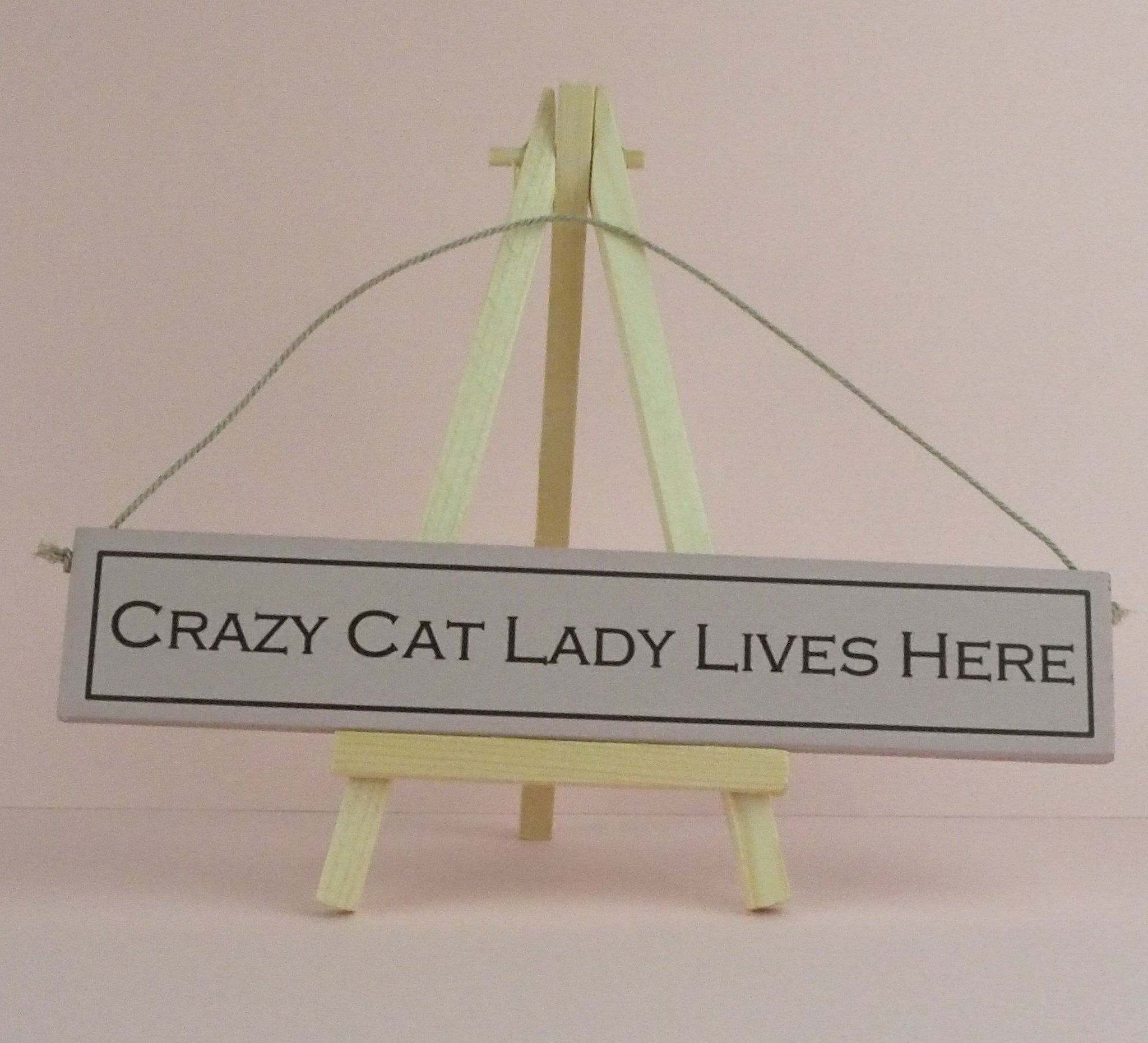 Wood Sign Crazy Cat Lady Lives Here