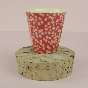 Rice Melamine kids Cup Red Floral