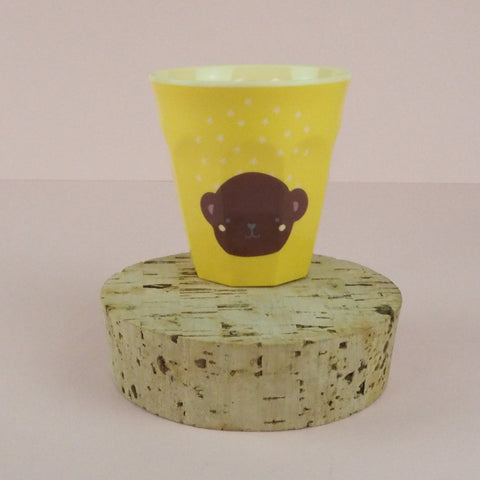 Rice Melamine Cup Yellow/Brown Bear