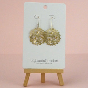 Floriana Butterly Swarm Gold Earrings