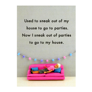 Sneak to my house - Bold and Bright Card