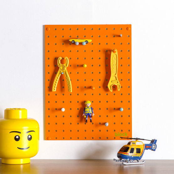 Pegboard Wooden Small Orange