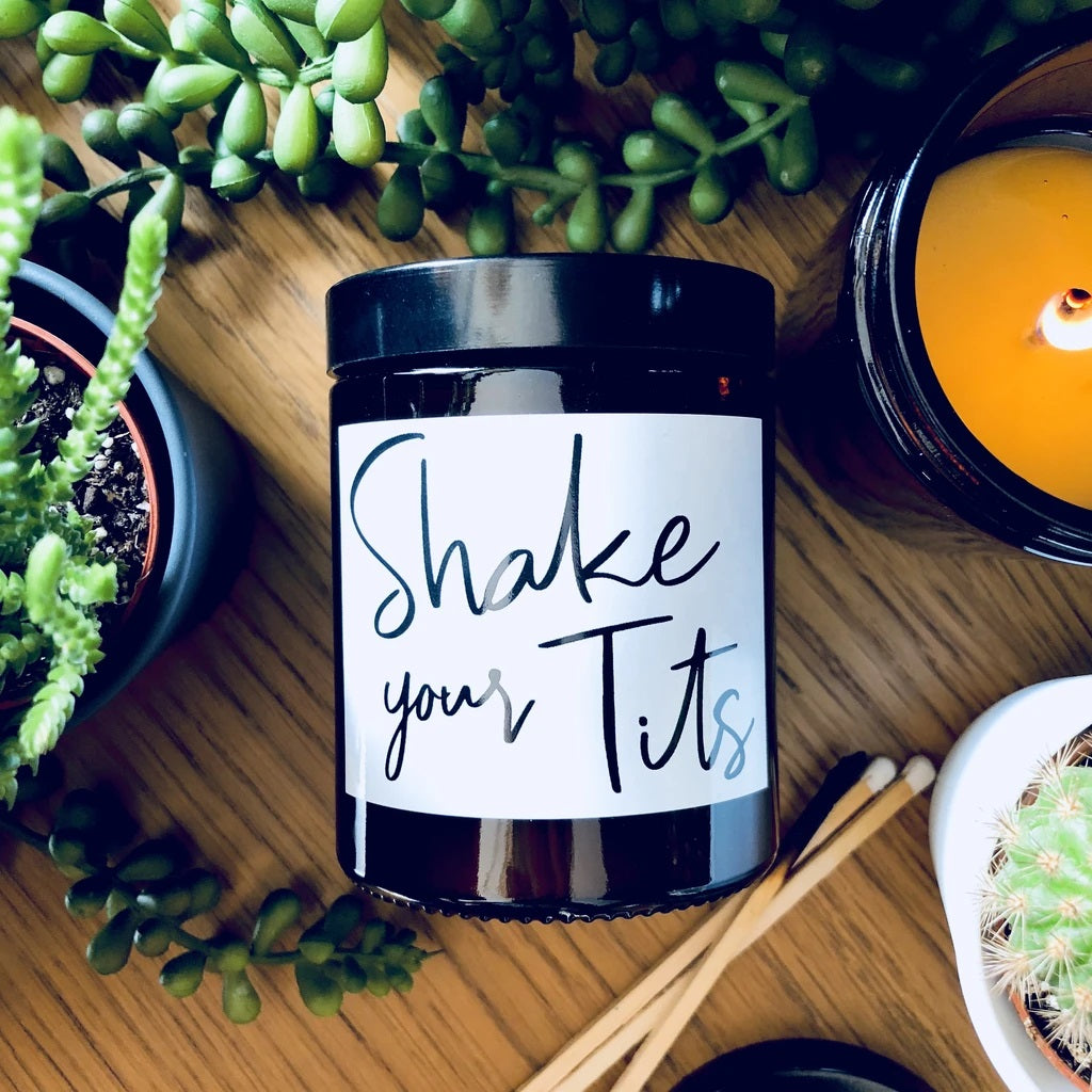Shake Your Tits Blueberry/Vanilla Scented Soy Candle