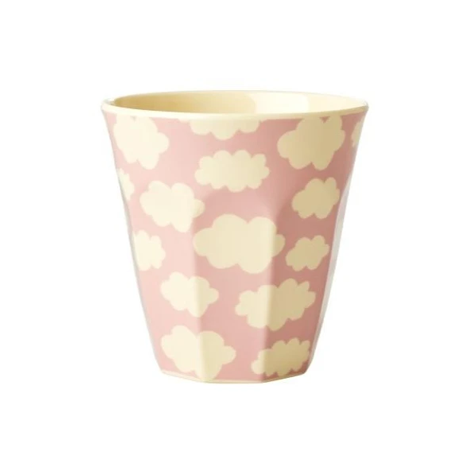 Melamine Kids Cup with Cloud Print In Pink Small