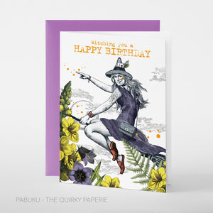 Witching You a Happy Birthday Card