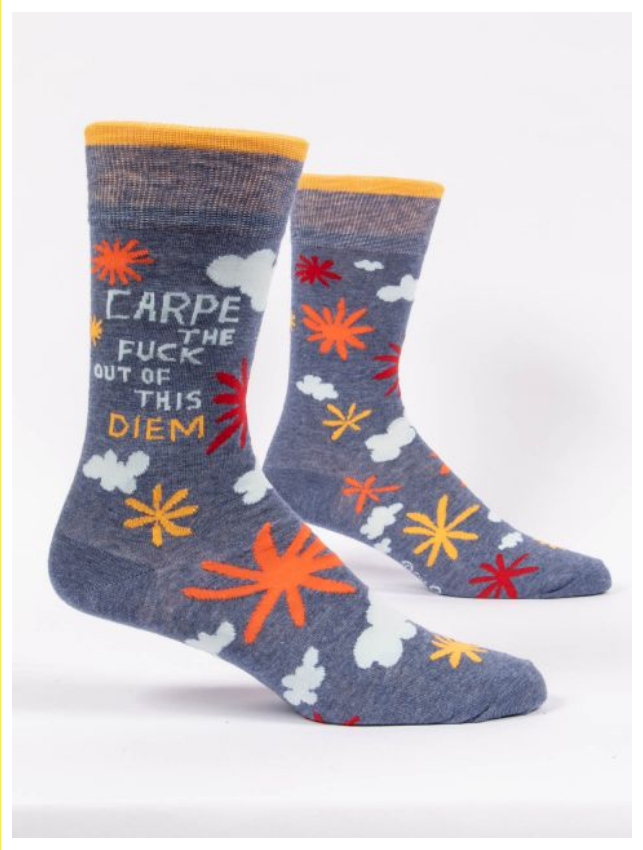 Blue Q Carpe the Fuck Out of this Diem. Men's Socks