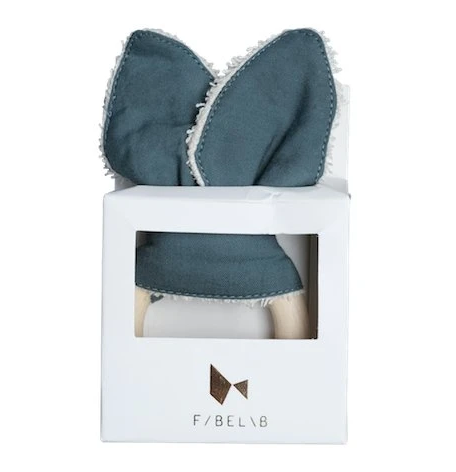 Fabelab Animal Teether Bunny - Blue Spruce