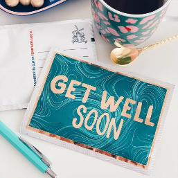 Get Well Soon Tea Postcard