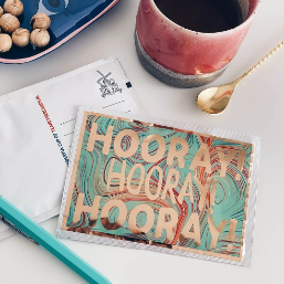 Hooray! Hooray! Hooray! Tea Postcard