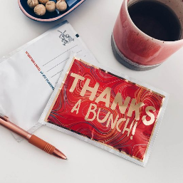 Thanks A Bunch! Tea Postcard