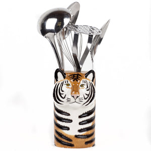 Tiger Utensil Pot