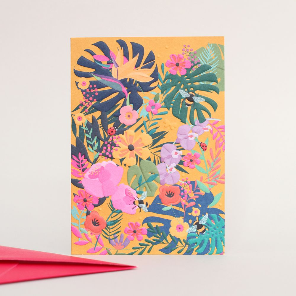 Flowers & Insects Card