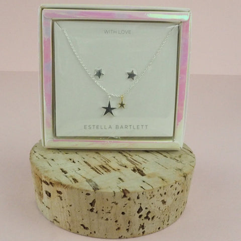 With Love Hand Drawn Star Necklace & Earrings Set