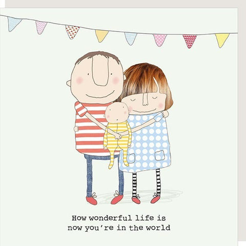 How Wonderful Life Is New Baby Card