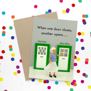 When one door closes - Bold and Bright Card