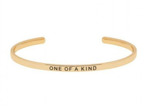 One Of A Kind Cuff  Bangle - Gold Plated