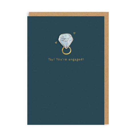 Yay Your Engaged Pin Badge Card