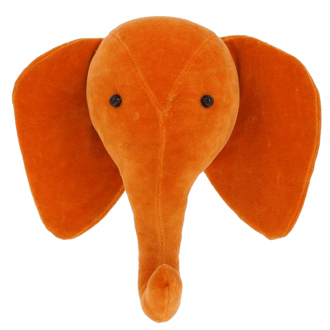 Fiona Walker Velvet Elephant Head Orange