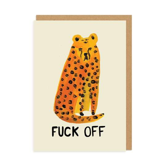 Leopard fuck off - Ohh Deer Card