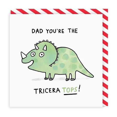 Dad You're The Tricera Tops Father's Day Card