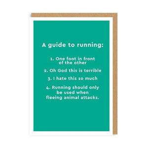Guide to running - Ohh Deer Card